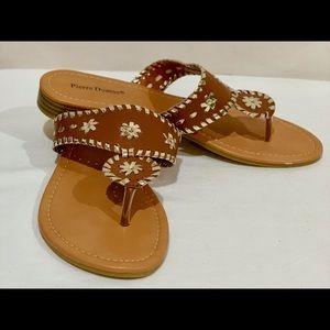 Pierre Dumas tobacco color sandles